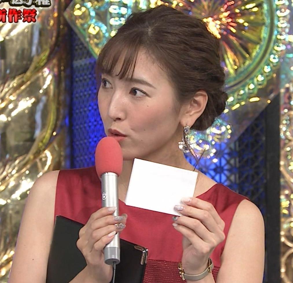 小澤陽子アナ ノースリーブのワンピースキャプ・エロ画像7