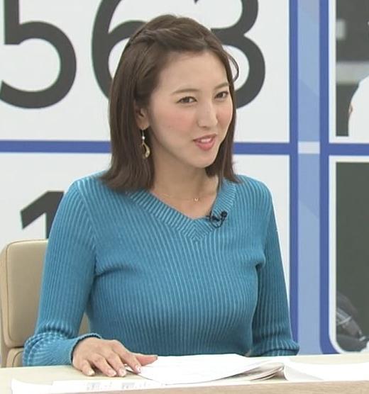 小澤陽子アナ デカい横乳!!キャプ・エロ画像