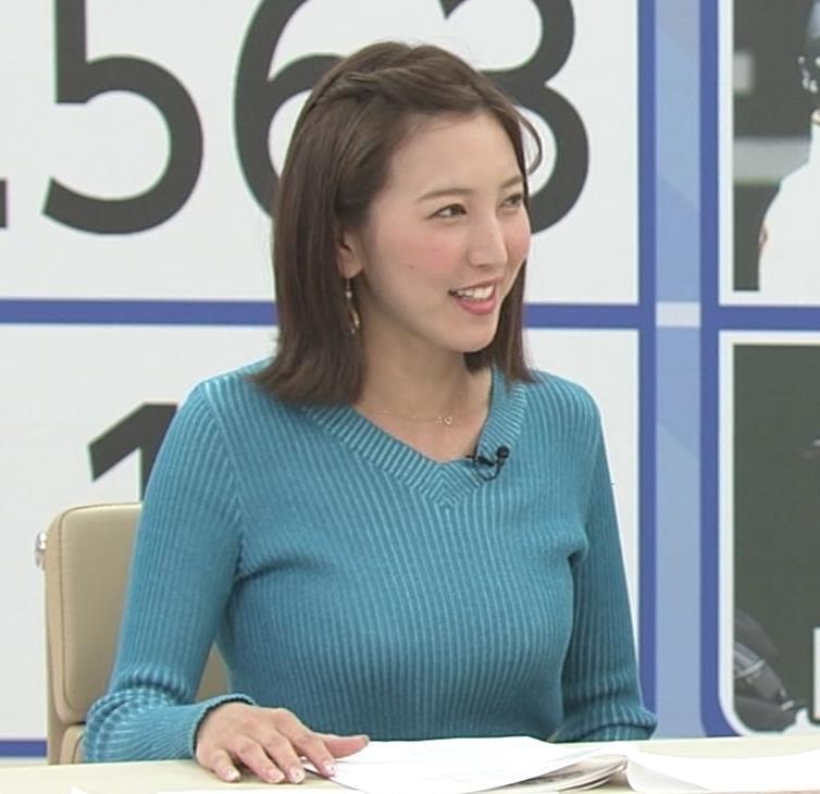 小澤陽子アナ デカい横乳!!キャプ・エロ画像5