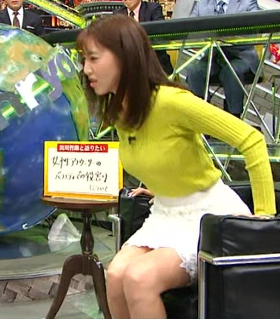小澤陽子アナ 巨乳ニット&ミニスカ太もも。フェロモン系女子アナキャプ・エロ画像11
