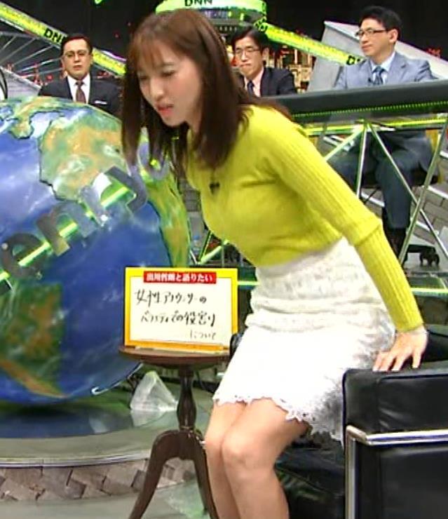 小澤陽子アナ 巨乳ニット&ミニスカ太もも。フェロモン系女子アナキャプ・エロ画像12