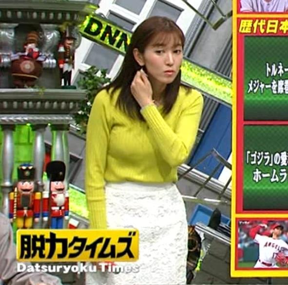 小澤陽子アナ 巨乳ニット&ミニスカ太もも。フェロモン系女子アナキャプ・エロ画像15