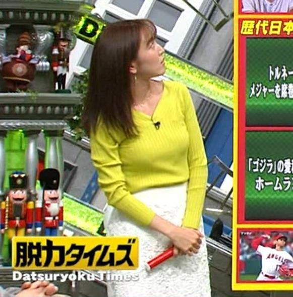 小澤陽子アナ 巨乳ニット&ミニスカ太もも。フェロモン系女子アナキャプ・エロ画像16