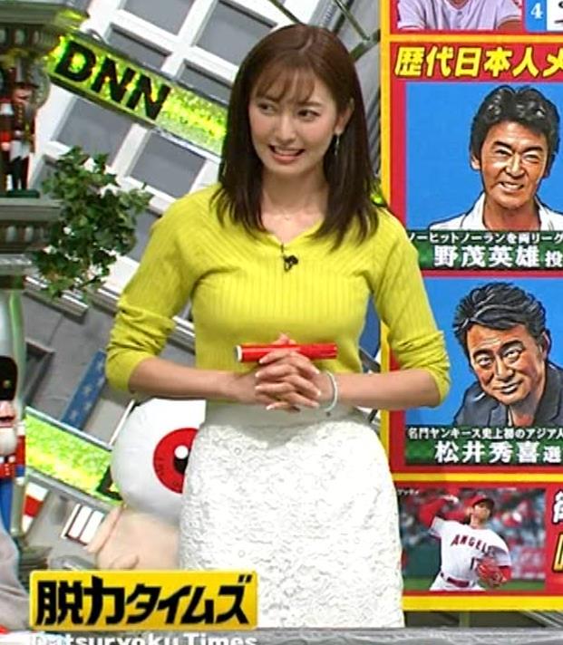 小澤陽子アナ 巨乳ニット&ミニスカ太もも。フェロモン系女子アナキャプ・エロ画像19
