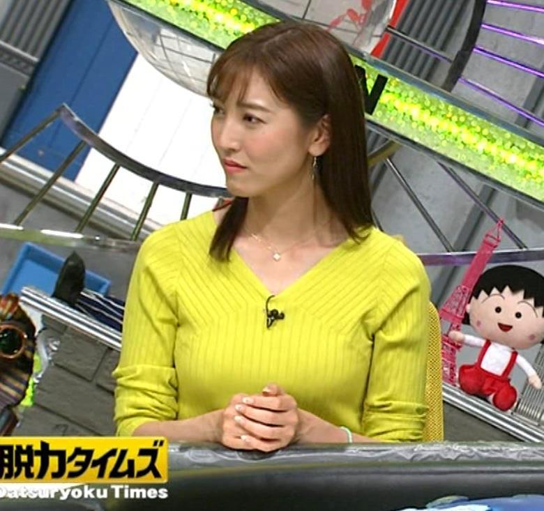 小澤陽子アナ 巨乳ニット&ミニスカ太もも。フェロモン系女子アナキャプ・エロ画像20
