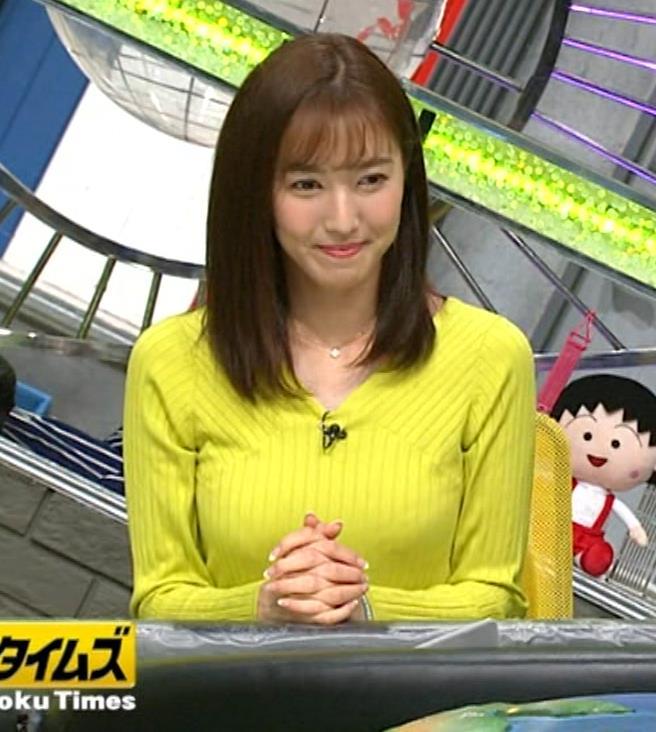 小澤陽子アナ 巨乳ニット&ミニスカ太もも。フェロモン系女子アナキャプ・エロ画像3