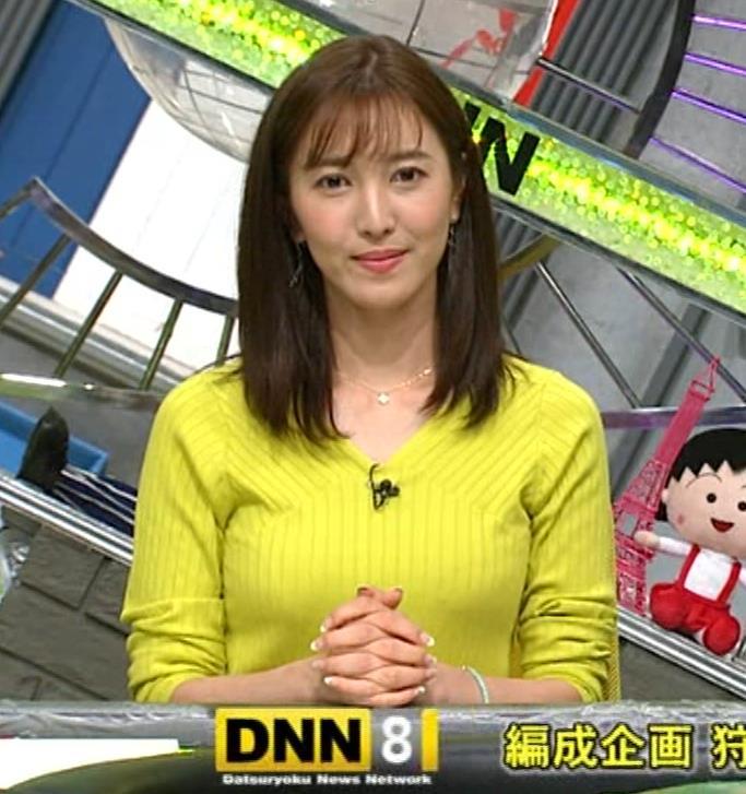 小澤陽子アナ 巨乳ニット&ミニスカ太もも。フェロモン系女子アナキャプ・エロ画像21