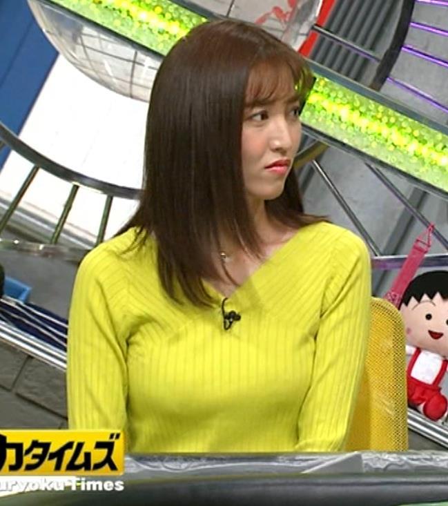 小澤陽子アナ 巨乳ニット&ミニスカ太もも。フェロモン系女子アナキャプ・エロ画像4
