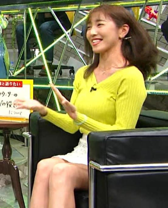 小澤陽子アナ 巨乳ニット&ミニスカ太もも。フェロモン系女子アナキャプ・エロ画像8