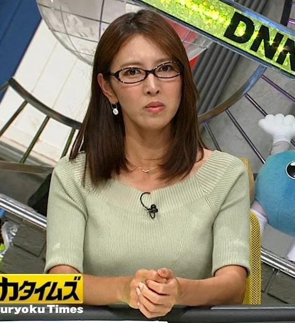 小澤陽子アナ 安定のニットおっぱいキャプ・エロ画像2