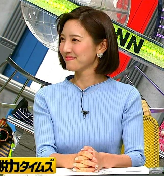 小澤陽子アナ ニットおっぱい!キャプ・エロ画像9