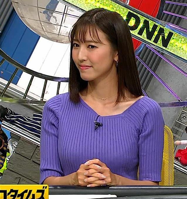 小澤陽子アナ 安定のニットおっぱいキャプ・エロ画像