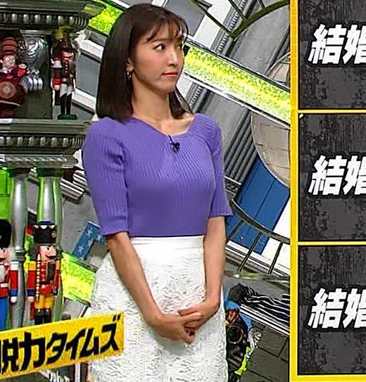 小澤陽子アナ 安定のニットおっぱいキャプ・エロ画像3