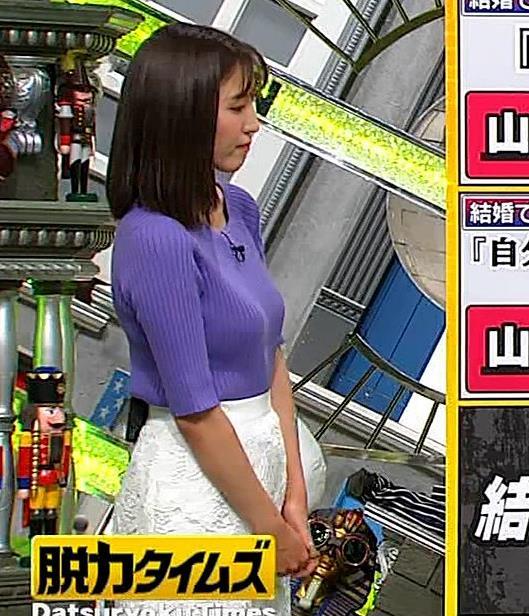 小澤陽子アナ 安定のニットおっぱいキャプ・エロ画像5