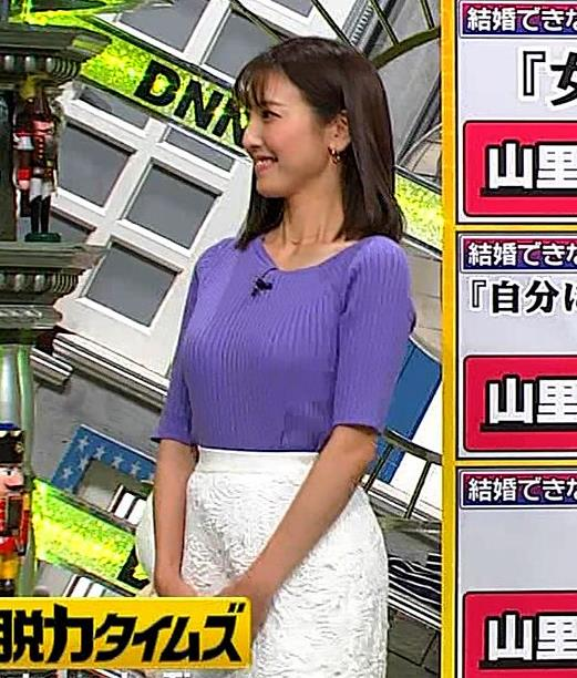 小澤陽子アナ 安定のニットおっぱいキャプ・エロ画像6