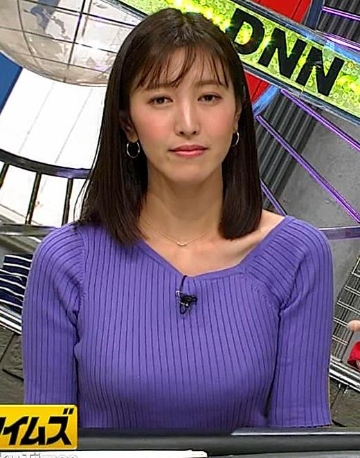 小澤陽子アナ 安定のニットおっぱいキャプ・エロ画像8