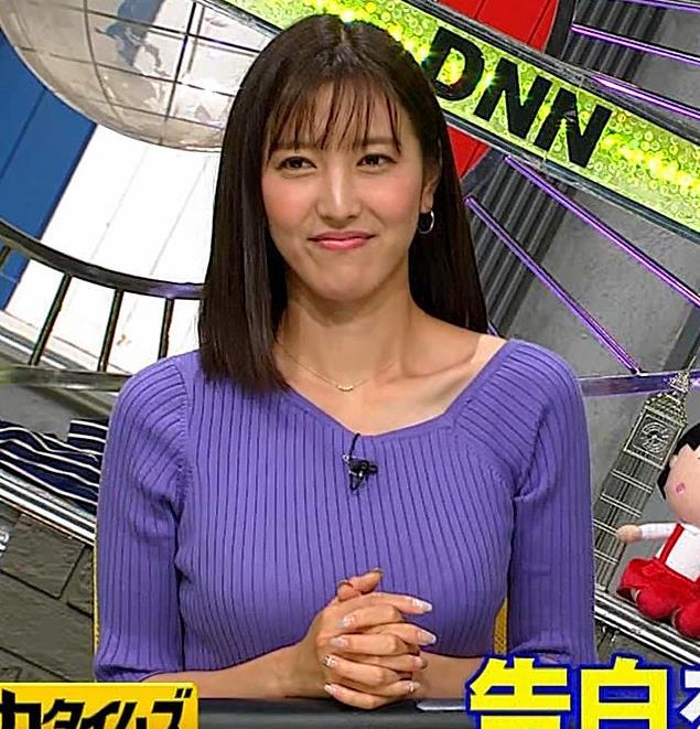 小澤陽子アナ 安定のニットおっぱいキャプ・エロ画像9