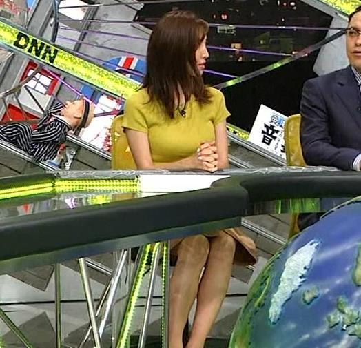 小澤陽子アナ 巨乳が目立つニットキャプ・エロ画像