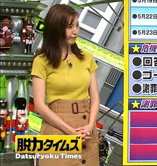 小澤陽子アナ 巨乳が目立つニットキャプ・エロ画像3
