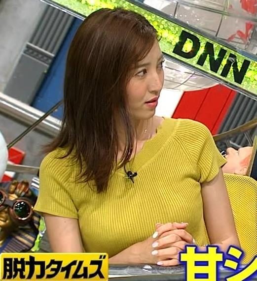 小澤陽子アナ 巨乳が目立つニットキャプ・エロ画像4