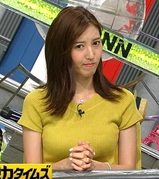 小澤陽子アナ 巨乳が目立つニットキャプ・エロ画像5