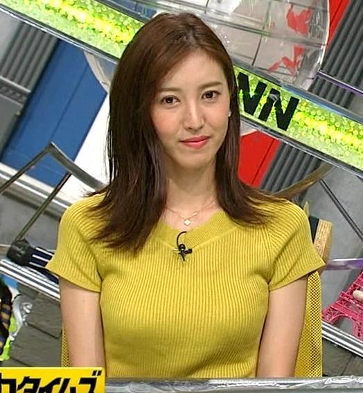 小澤陽子アナ 巨乳が目立つニットキャプ・エロ画像6