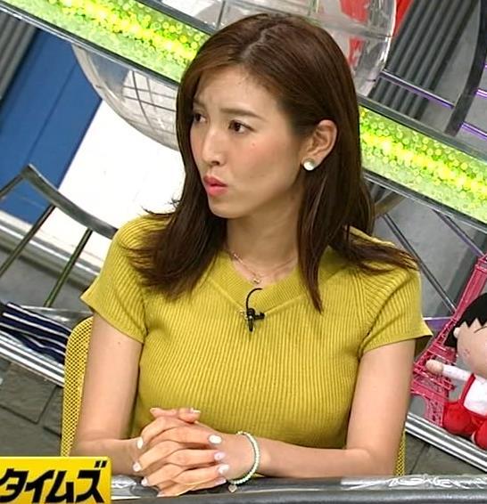 小澤陽子アナ 巨乳が目立つニットキャプ・エロ画像7