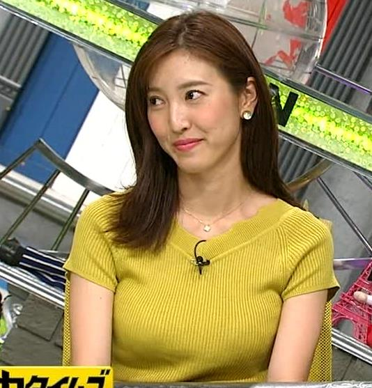 小澤陽子アナ 巨乳が目立つニットキャプ・エロ画像8