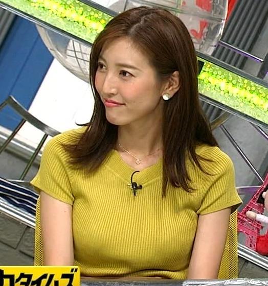 小澤陽子アナ 巨乳が目立つニットキャプ・エロ画像9
