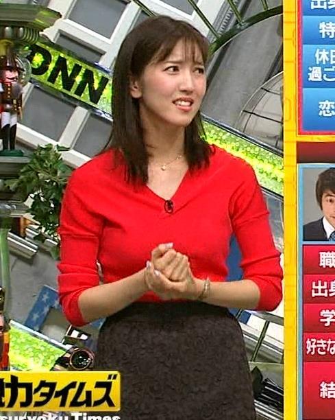 アナ 真っ赤なニットキャプ・エロ画像6