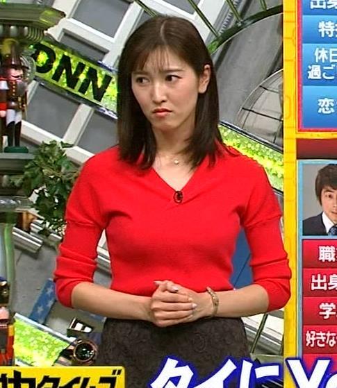 アナ 真っ赤なニットキャプ・エロ画像7