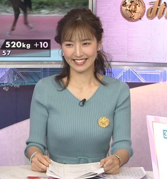 小澤陽子アナ 美人巨乳アナのニット乳キャプ・エロ画像