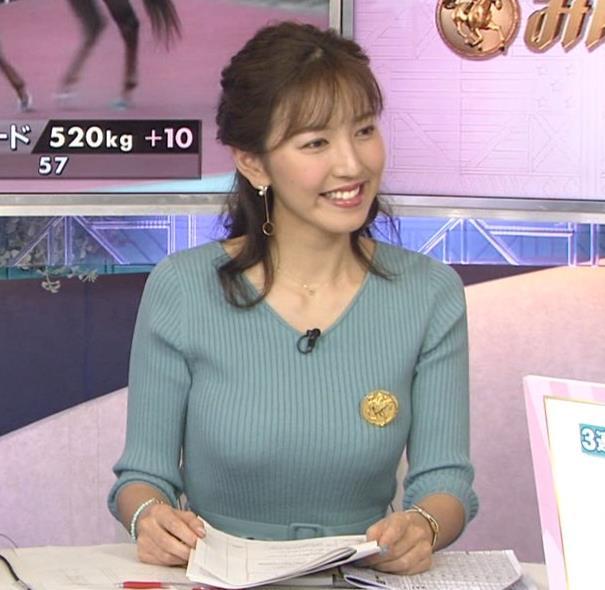 小澤陽子アナ 美人巨乳アナのニット乳キャプ・エロ画像2