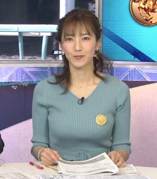 小澤陽子アナ 美人巨乳アナのニット乳キャプ・エロ画像3