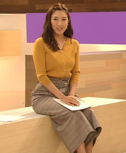 小澤陽子アナ おでこを出した前髪キャプ・エロ画像
