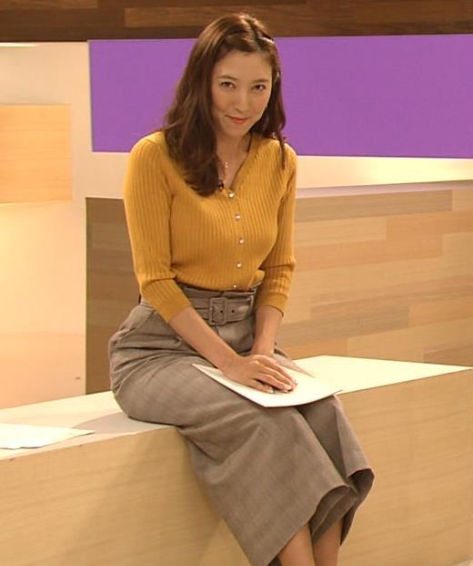 小澤陽子アナ おでこを出した前髪キャプ・エロ画像2