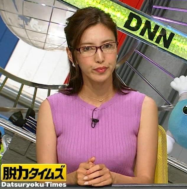 小澤陽子アナ このニット乳はエロ過ぎキャプ・エロ画像3