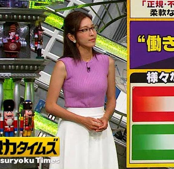 小澤陽子アナ このニット乳はエロ過ぎキャプ・エロ画像4