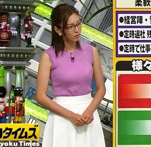 小澤陽子アナ このニット乳はエロ過ぎキャプ・エロ画像5