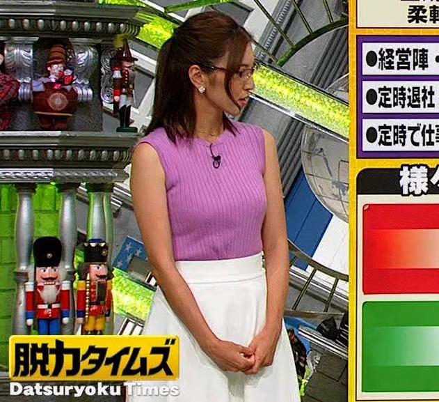 小澤陽子アナ このニット乳はエロ過ぎキャプ・エロ画像6