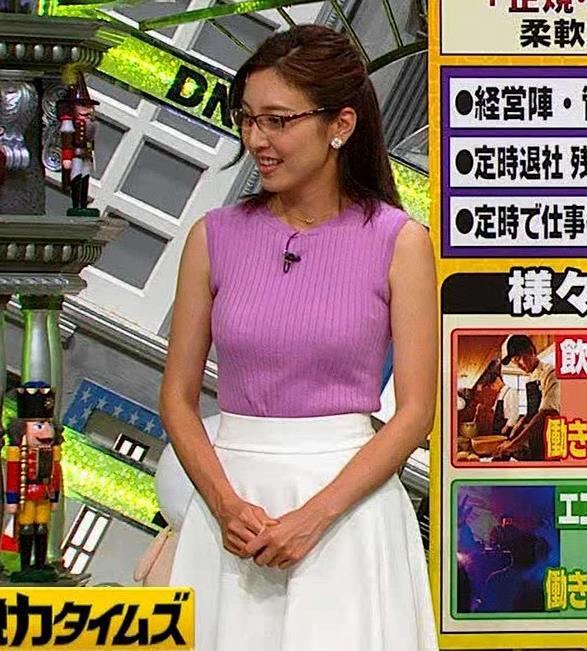 小澤陽子アナ このニット乳はエロ過ぎキャプ・エロ画像9