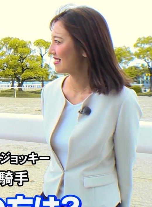 小澤陽子アナ ジャケットのしたのエロいおっぱいキャプ・エロ画像4