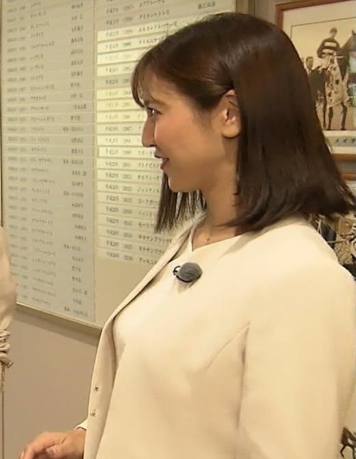 小澤陽子アナ ジャケットのしたのエロいおっぱいキャプ画像(エロ・アイコラ画像)
