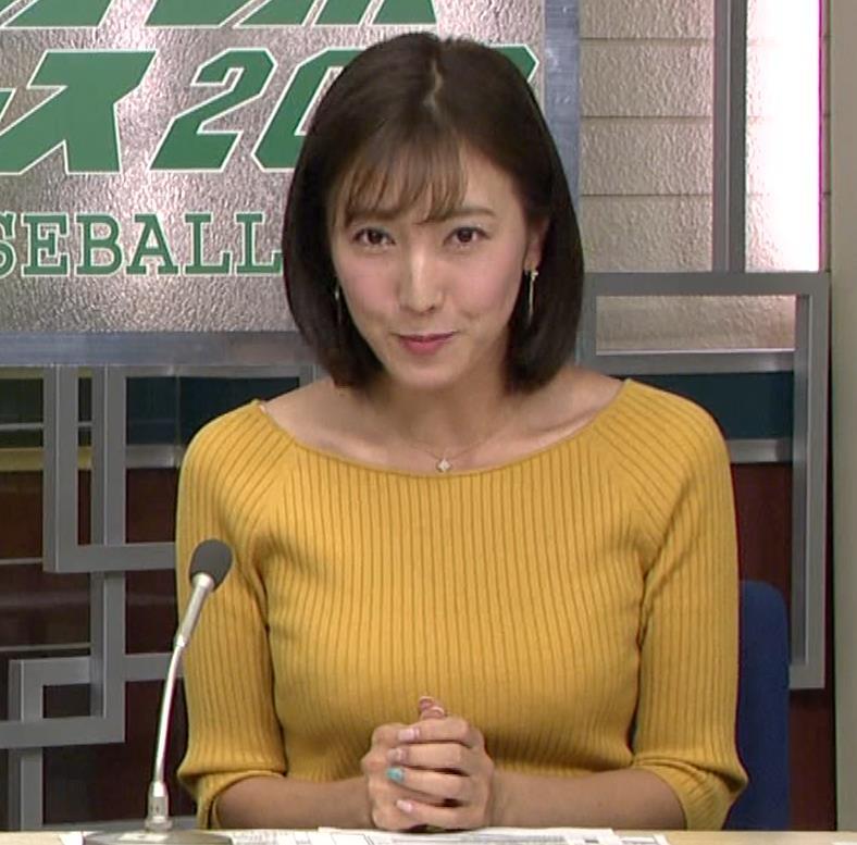小澤陽子アナ ブラ紐チラキャプ・エロ画像2