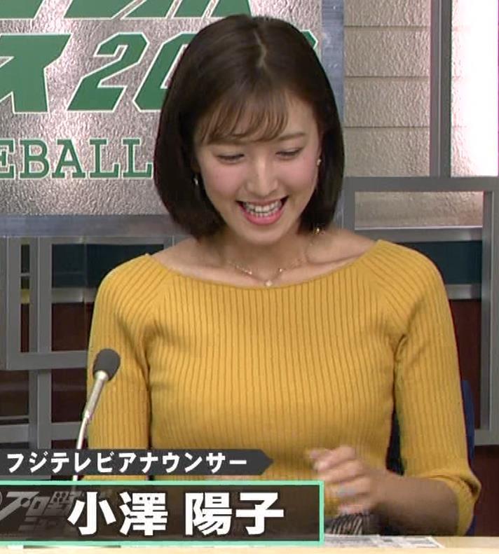 小澤陽子アナ ブラ紐チラキャプ・エロ画像3