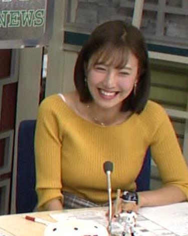 小澤陽子アナ ブラ紐チラキャプ・エロ画像5
