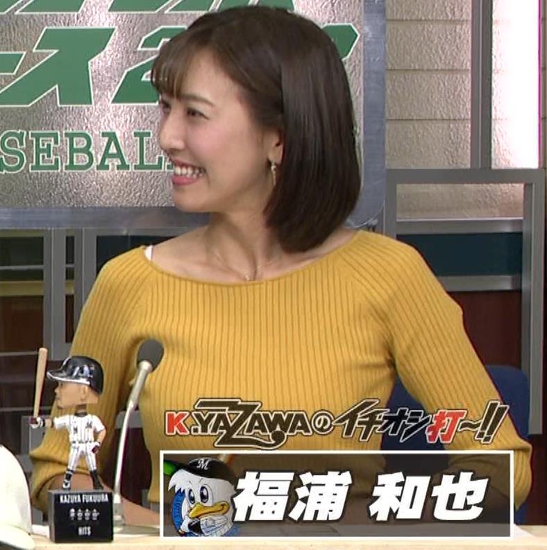 小澤陽子アナ ブラ紐チラキャプ・エロ画像6