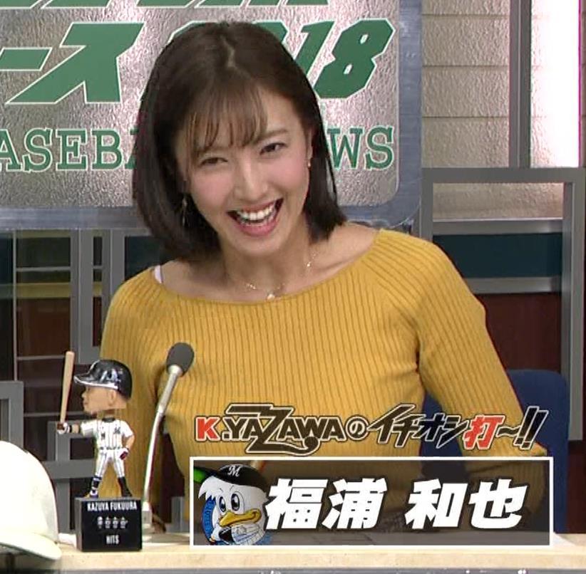 小澤陽子アナ ブラ紐チラキャプ・エロ画像9