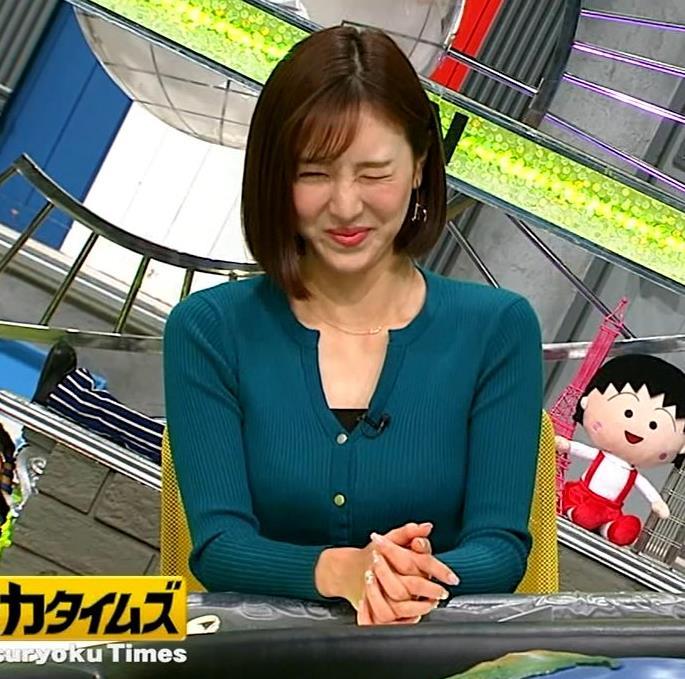 小澤陽子アナ 胸元開いててエロいキャプ・エロ画像2