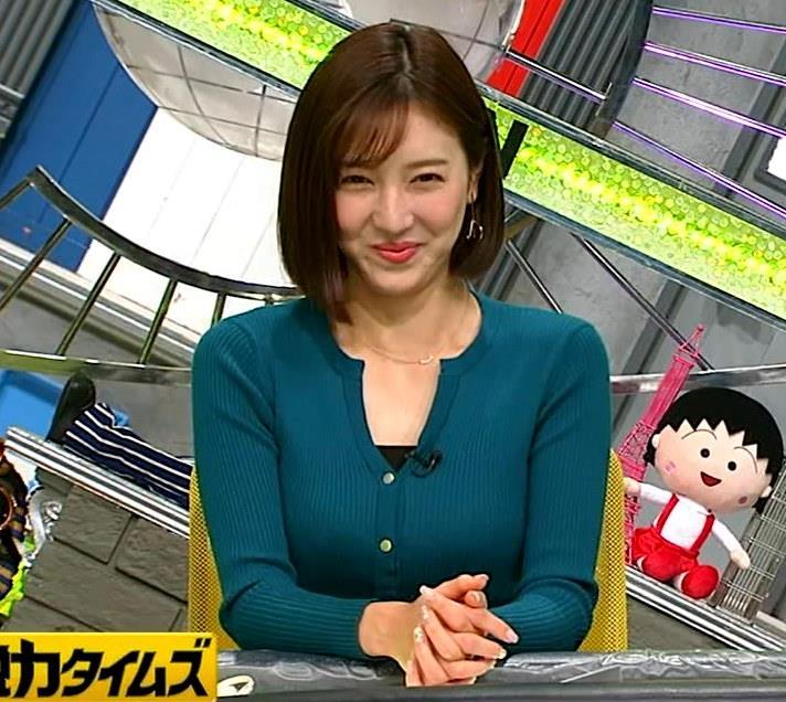 小澤陽子アナ 胸元開いててエロいキャプ・エロ画像3